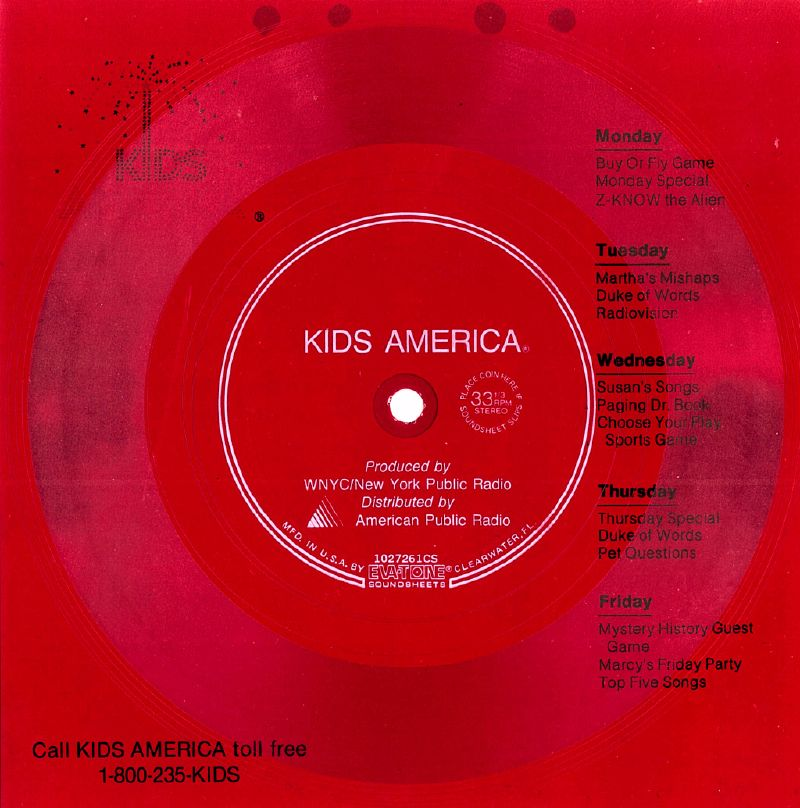 Kids America Demo Soundsheet