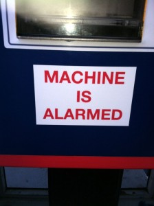 San Rafael Parking Meter - Machine Is Alarmed