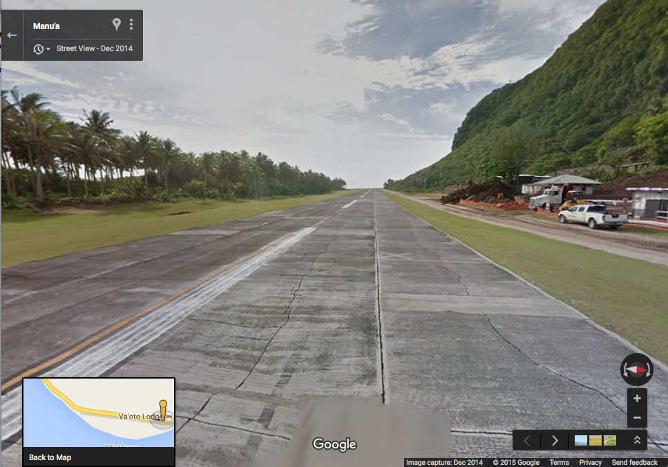 Ofu Airport - Google Street View
